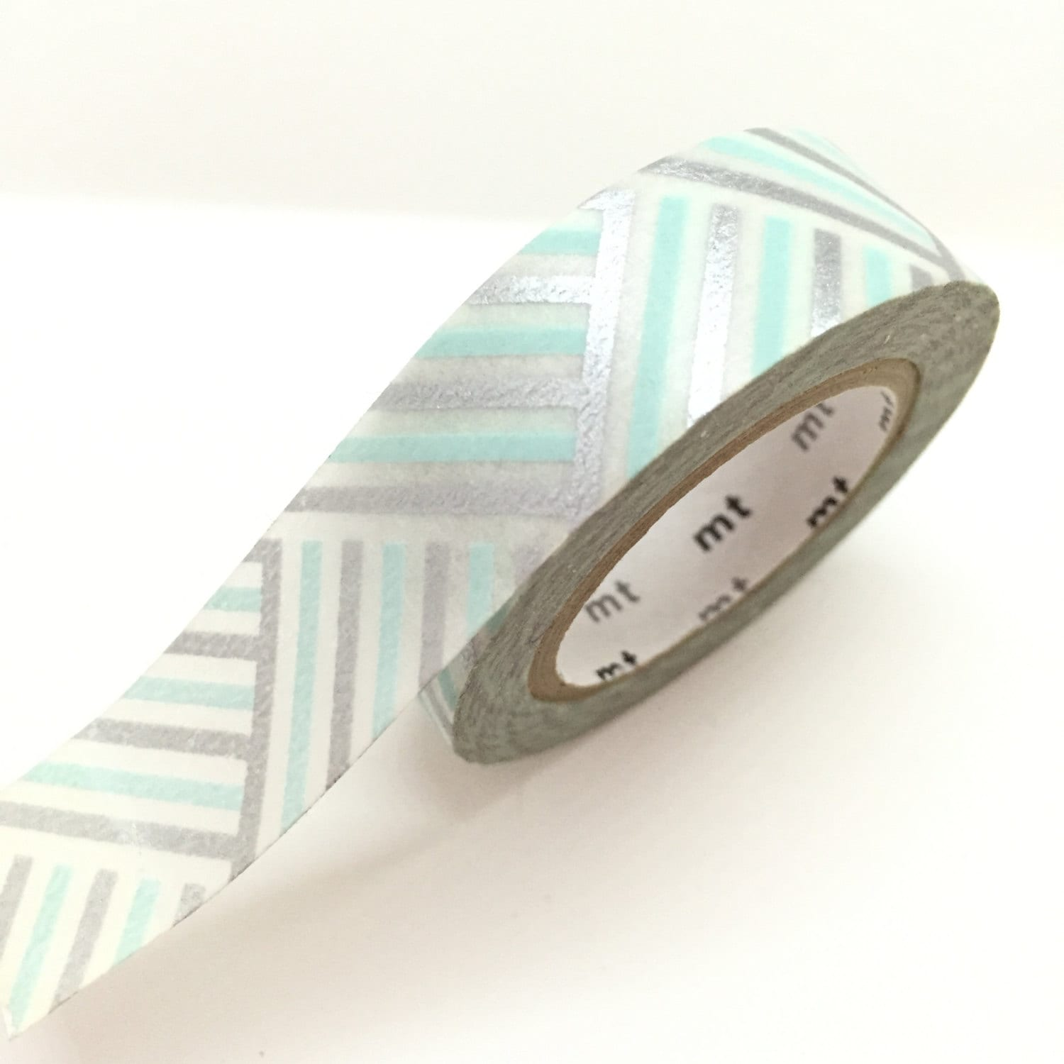 Silver baby blue Washi Tape - blue and silver wedding blue and ...