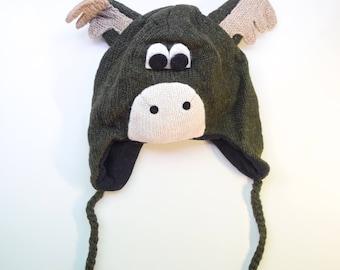 Handmade Moose 100% Wool Hat