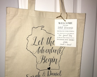 Customized wedding welcome bags tote bags gift bags favors