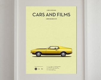 Gone in 60 Seconds (1974) car poster, art print A3 Cars And Films, home decor prints, illustration print