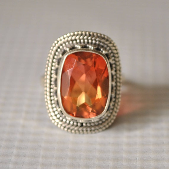 Double Color Tourmaline Ring Sz 7 #9814
