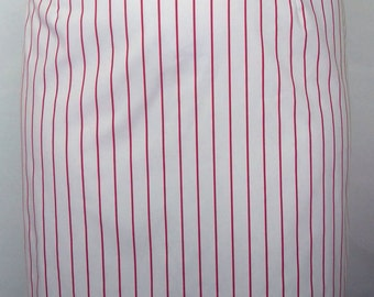 NEW! Red White Stripe Twill Weave Pencil Skirt PLUS SIZE 18 20 22 24 26 28 30