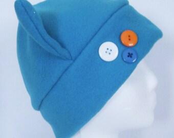 Solid Fleece Cat Hat