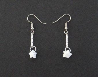 Paper stars earrings