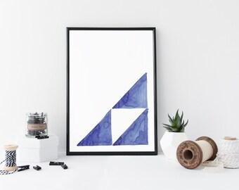 Printable art - navy geomtric art