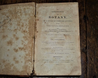 Priscilla Wakefield-One of Just a Few Women Authors in the Late 18th Century - 1811 An Introduction to Botany - First American Edition