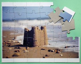 Summer - Sand - Beach - Ocean - Sandcastle - Jigsaw Puzzle - Vacation Tradition - Vacation Activity for Kids - Family Vacation