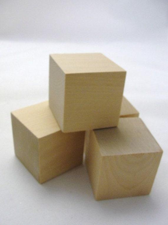2 inch wooden cube 2 unfinished wooden block. Black Bedroom Furniture Sets. Home Design Ideas