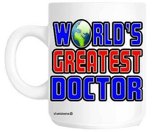 Worlds greatest doctor novelty gift mug