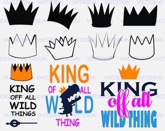 Wild Things crown SVG - Wild Things crown clipart - Wild Things crown digital clipart for Design or more, files download svg, png, eps, jpg