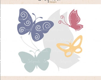 Butterfly Bundle - SVG and DXF Cut Files - for Cricut, Silhouette, Die Cut Machines // scrapbooking // paper crafts // solipandi // #152