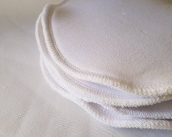 Nursing Pads pair // Washable Pad for Breast Leaks // Natural fiber bra insert for breastfeeding