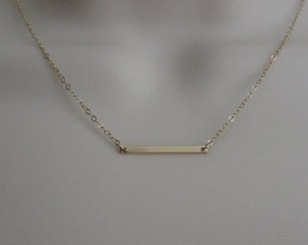 Tiny Skinny Bar Necklace. Sterling Silver Bar. Gold Filled Bar. Delicate Layering Necklace. Everyday Necklace. Minimalist Jewelry. Tiny Bar.