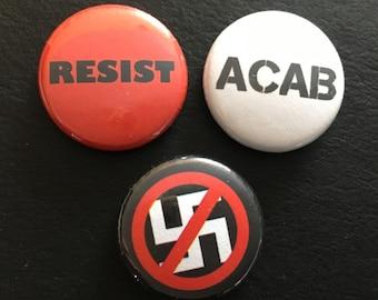 """ACAB set 1"""" buttons"""