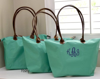 Personalized Bag ,Nylon Tote, Monogrammed Bridesmaid Gift, Personalized Champ, bridal party, bride