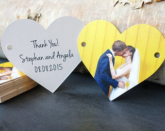 Wedding Favor Thank You Tag (Heart Tags)