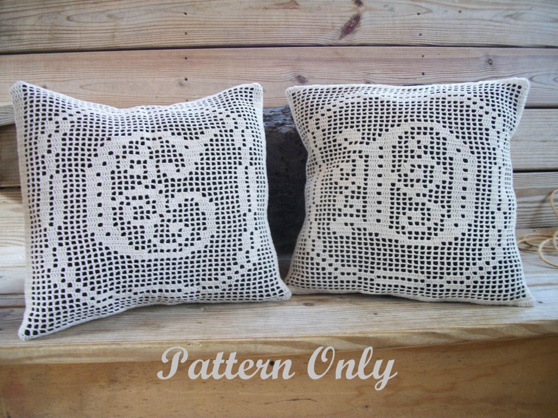 Filet Crochet Complete Alphabet Crochet Pillow Pattern