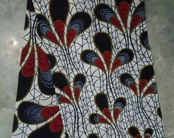 6 yards Blue African fabric, Ankara fabric, African clothing, women clothing, African dress