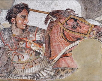 Poster, Many Sizes Available; Alexander The Great Mosaic Landscape