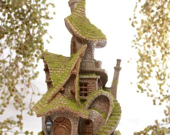Fairy Garden Whimsical Fairy House - Solar Powered Lights