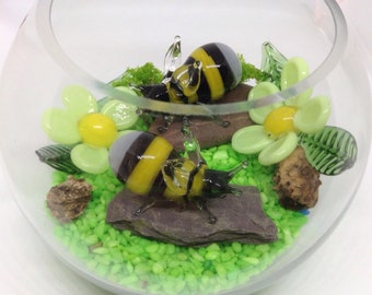 Bees in a bowl