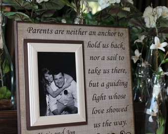 Parents Wedding Thank You Gift ~ Mother and Father of the Bride ~ Father and Mother of the Groom ~ Personalized Wedding Frame