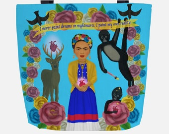 Blue Frida Inspired (Everyday Use) Tote Bag