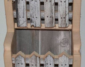 Amish Handmade Reclaimed Barn wood Bill Invoice or Mail Holder