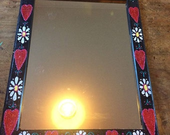 1 hand painted mirror