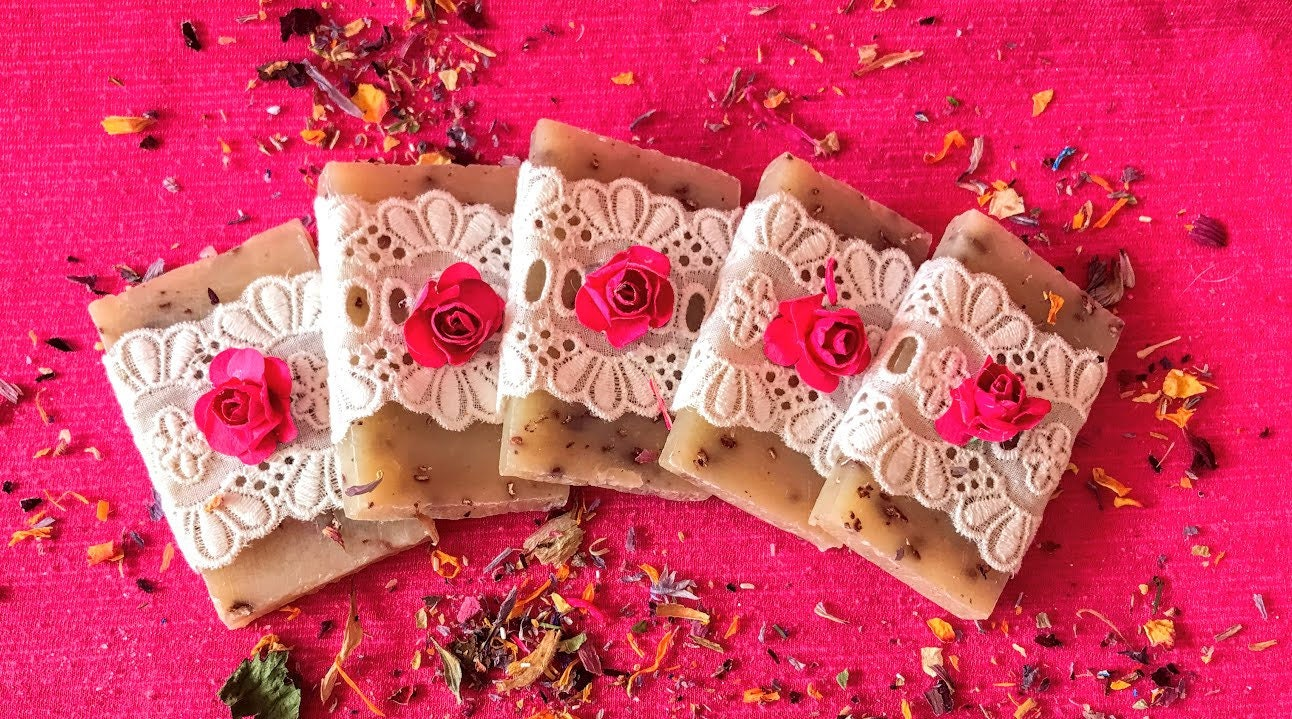 Lace and Flowers Wedding Soap favor Floral Wedding favor