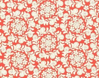 Strawberry Moon - Petite Henna Garden Coral by Sandi Henderson from Michael Miller