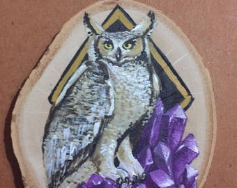 Great Owl small painting