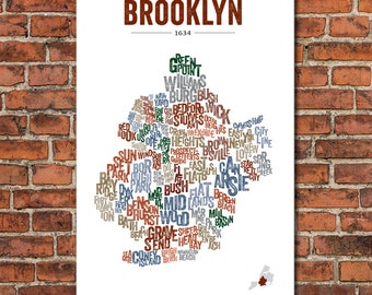 The Boroughs of New York City Series – Brooklyn, Art Print
