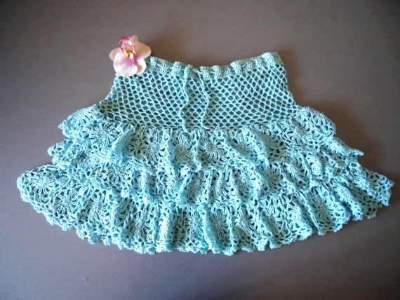 crochet skirt pattern,detailed tutorial,crochet beach skirt,crochet ...