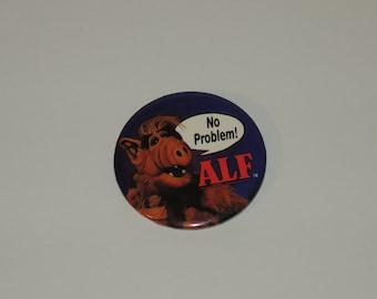 "VTG 1986 Alf ""No Problem!"" 2 1/4"" Advertising TV Show Button"
