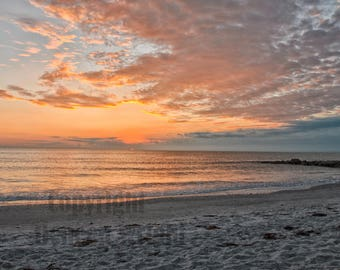 Nautical Beach Photography, Sunset Ocean Photography, Fine Art Photography, Beach Front Photography, Home Decor, Florida Beach Photography