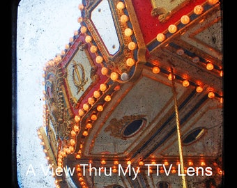 INSTANT DOWNLOAD of Carousel. TTV photography, square prints, vintage prints, print it yourself