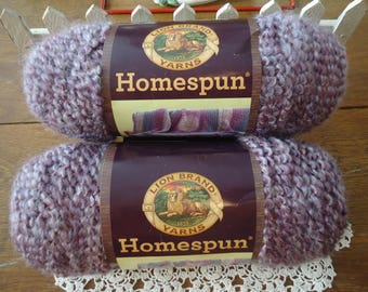Lion Brand Homespun Baroque Bulky Yarn Two Skeins 60x Each Acrylic