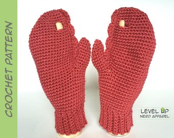Dr. Lobster mittens CROCHET PATTERN || 3 sizes || Instant Download