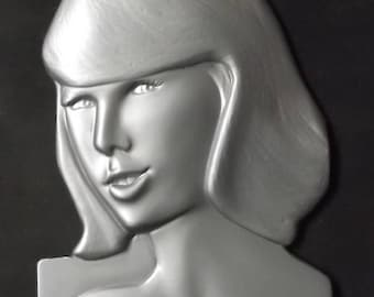 Taylor Swift Sculpture Wall plaque Bas Relief by Don Maguire