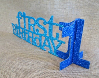 First Birthday Decoration 1st Birthday Table Sign Table Centerpiece Birthday Decorations One Cake Topper First Birthday Party Decor