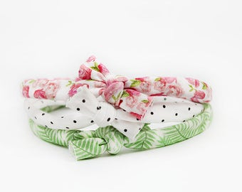 Baby Flower Headband, Floral Bows, Baby Girl Headbands, Baby Accessories, Knotted Headbands, Flower Headbands, Baby Shower Gift, Top Knot