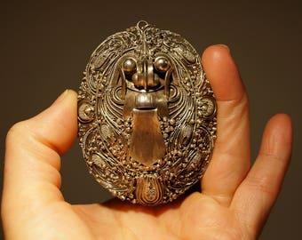 Rangda Balinese Silver Pendant