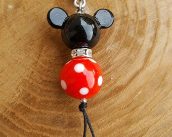 Mickey Mouse Lampwork Bag Charm