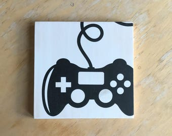 Video Game Controller - Gamer Gift - Gamer Room Decor - Gamer Sign - Gamer Party Decor - Video Game Decor - Video Game Art - Gamer Room Sign