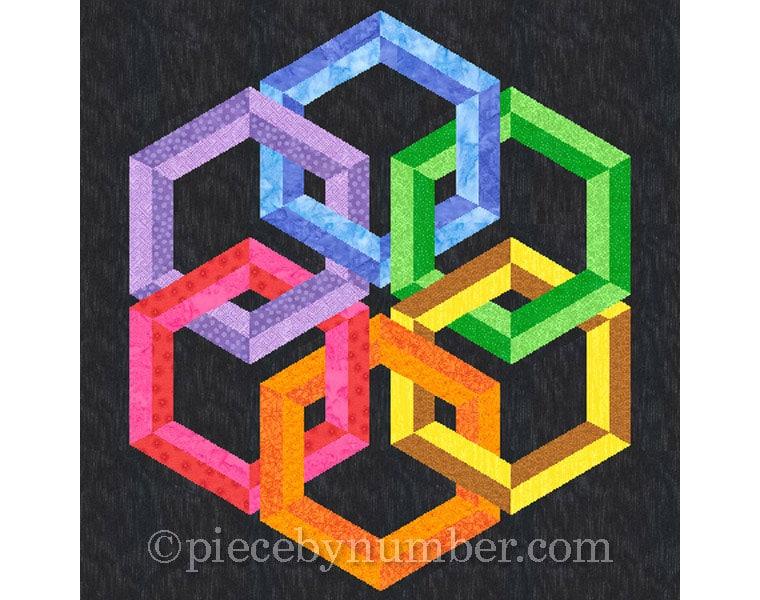 Hexadaisy quilt block pattern paper pieced quilt patterns : celtic knot quilt pattern - Adamdwight.com