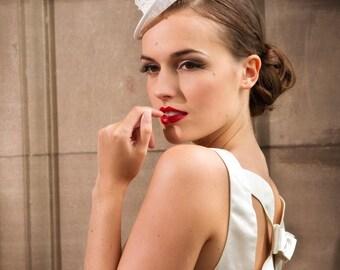 Bridal Lace Top Hat Fascinator