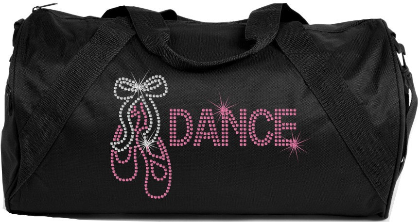 Ballet Dance Bling Duffle Bag Rhinestone Tote Gym
