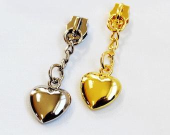 Chain Heart Zipper Pulls, heart zipper pulls, purse zipper pulls