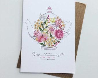 Floral Teapot Card